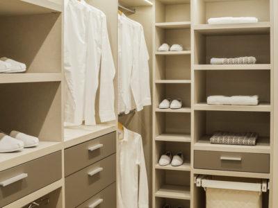 contemporary wardrobe shelves